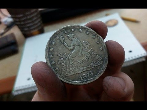 Rare 1873 Us Silver Trade Dollar With Globe Found In