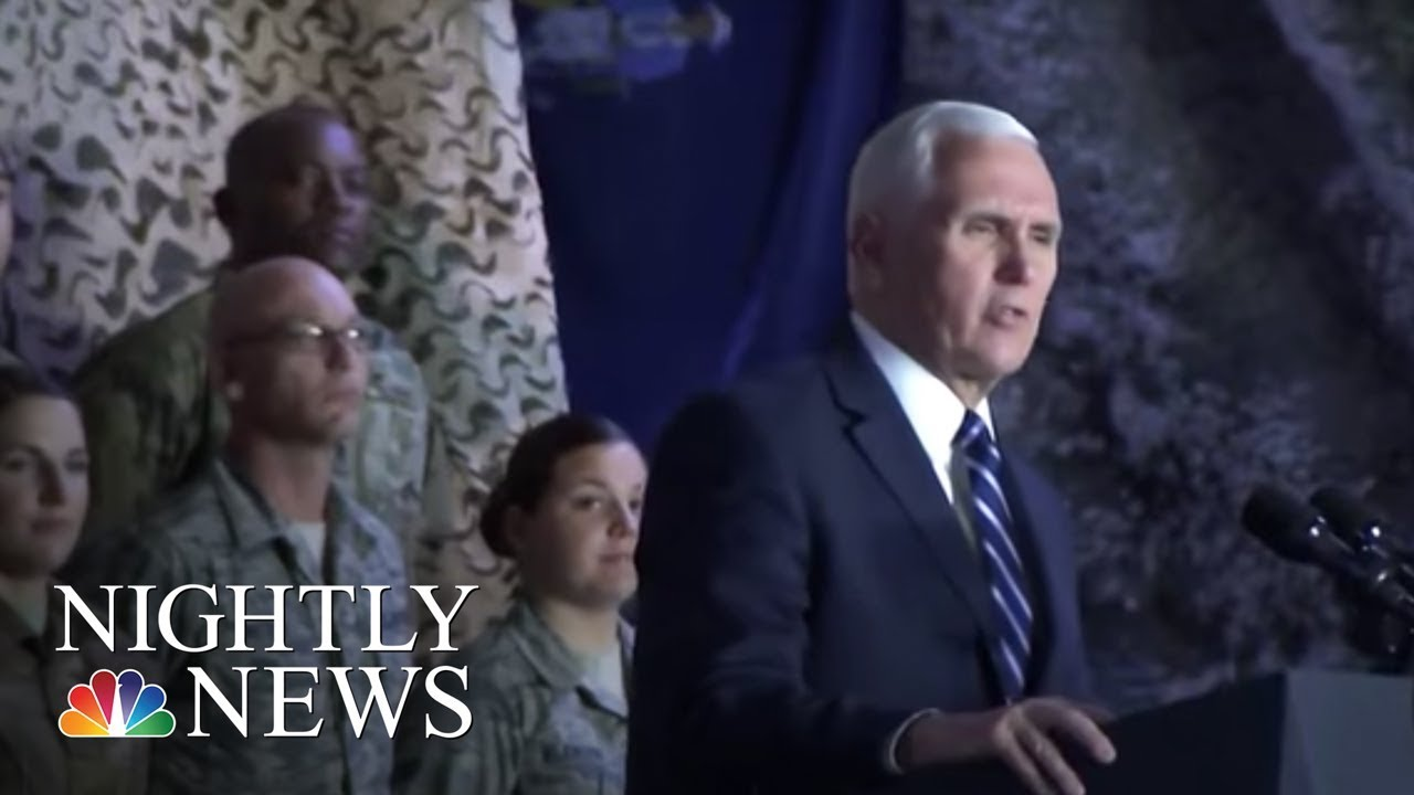 vp-pence-talks-shutdown-during-middle-east-trip-nbc-nightly-news