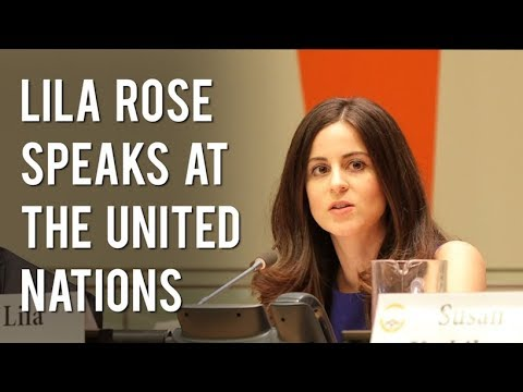 "Lila Rose speaks at the United Nations - ""Protecting Femininity"""