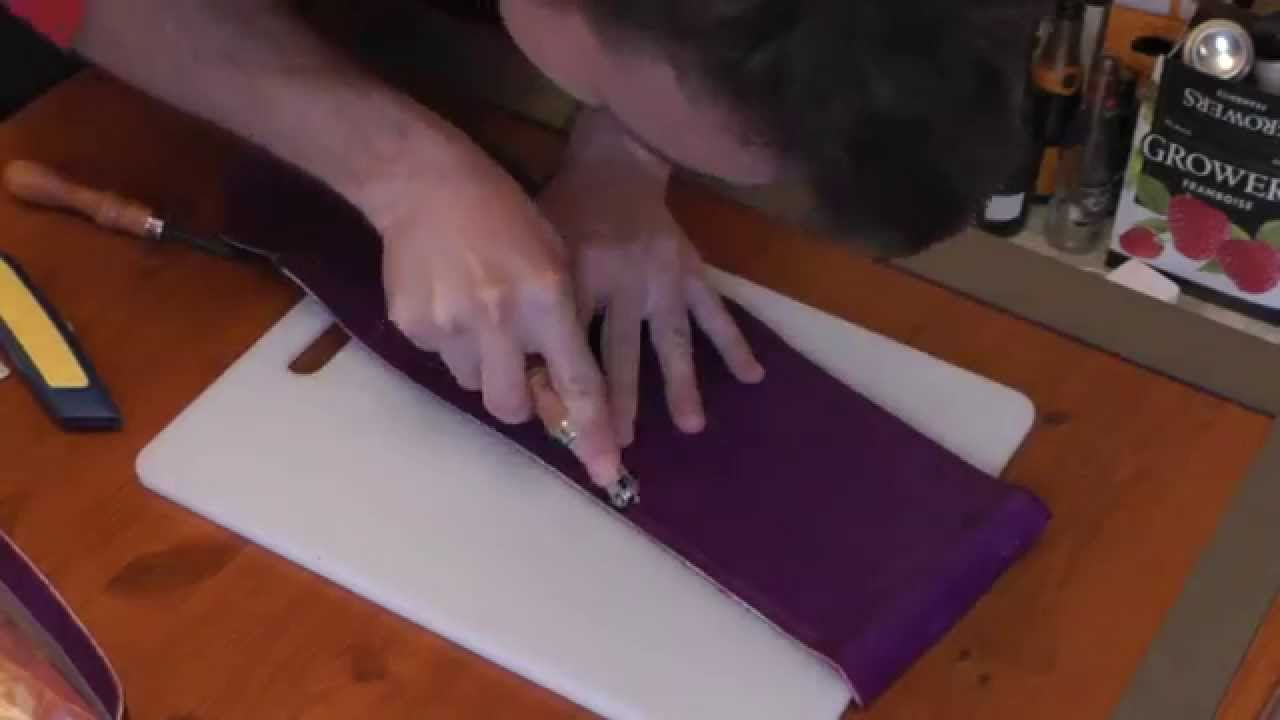 c1baeb51ab Making a leather purse by hand - YouTube