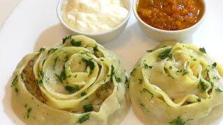 Как приготовить самые вкусные МАНТЫ. Roll out the dough with meat