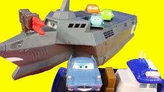 Disney Pixar Cars 2 Action Agents With Mater Finn McMissile Lemons Spy Train