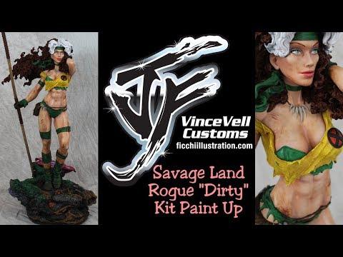 Savage Land Rogue Dirty Kit Paint Up Statue