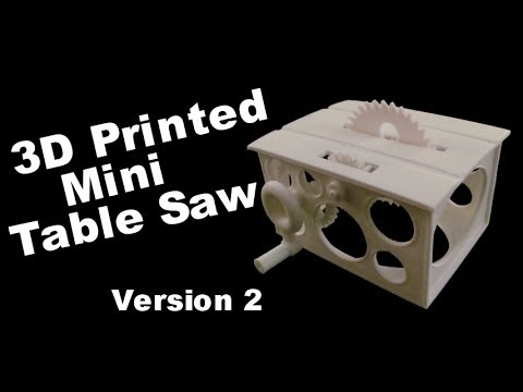 3D Printed Mini Table Saw - Two Gear Version