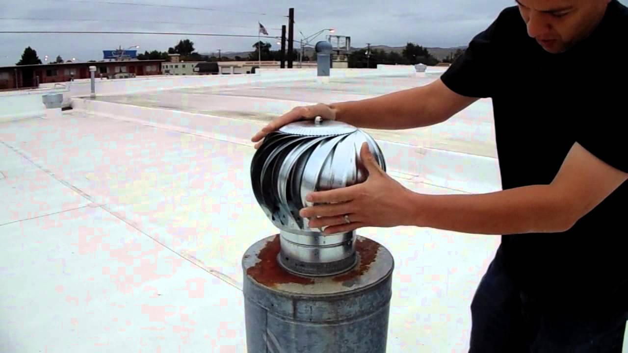 Roof Turbine Vent Installation Youtube