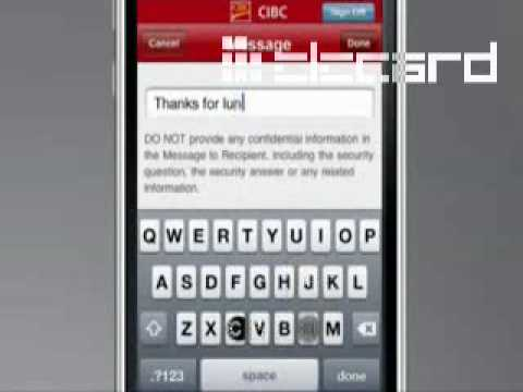 CIBC mobile online banking Apple iPhone / iPod Touch app