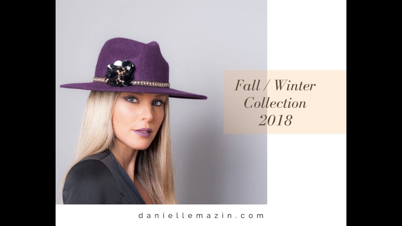 34f68f58221 Danielle Mazin Headwear Designer Collection Fall Winter 2018 - YouTube