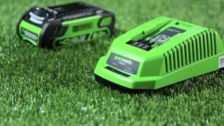 Обзор аккумуляторов LI-ION G-MAX 40V на 4Ah и 2Ah для инструмента GreenWorks