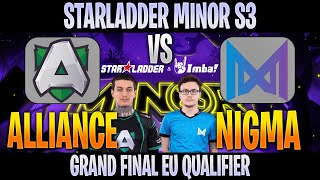 [ENG] Alliance vs Nigma | Bo5 | Grand Final EU Qualifier STARLADDER Minor S3 | DOTA 2 LIVE @Crysis
