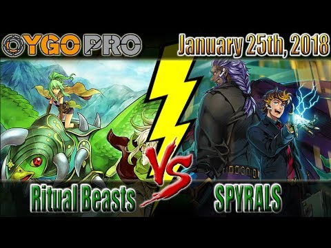 """Ritual Beasts vs. SPYRALs   """"He Can Play Through My Backrow So Easily"""" [YGOpro Duels - Post EXFO]"""