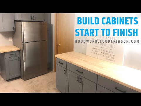 How To Build DIY Kitchen Cabinets - Start To Finish