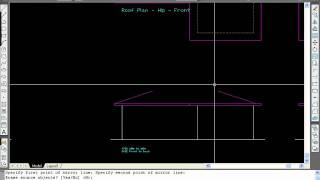 Drawing A House In Autocad, Video 21 - Multi Pitch Hip Roof
