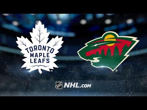 Stalock, Wild shut out Maple Leafs, 2-0