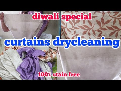 Curtains drycleaning & washing. Important laundry chemicals (hindi)