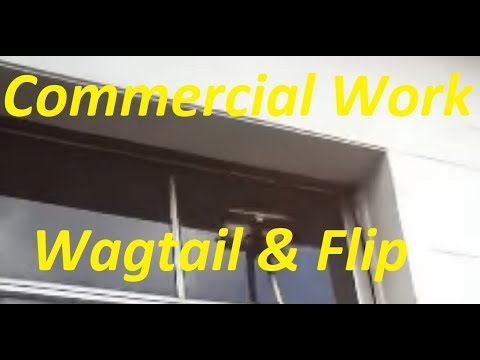 Commercial work wagtail and flip