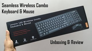 Lenovo 100 Wireless Keyboard amp Mouse Combo - Unboxing and Full Review