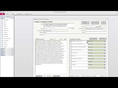 QCA 05 - Chunking and coding the source text