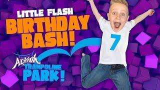 Little Flash's Birthday Party VLOG! Kids @ Indoor Trampoline Playground