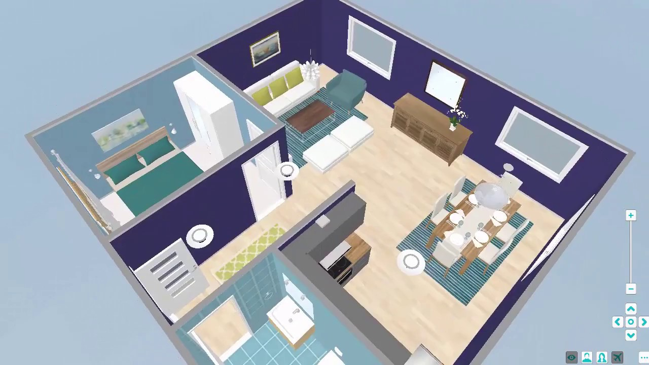 Live 3d grundrisse roomsketcher raumplaner youtube for Raumplaner 3d