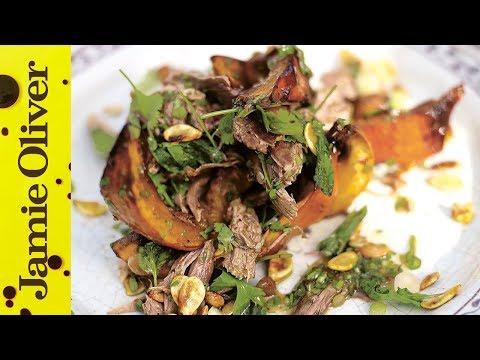 Roast duck & Pumpkin - Jamie at Home