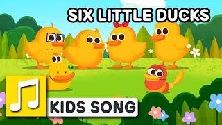 SIX LITTLE DUCKS  | Nursery Rhymes | LARVA KIDS Songs for Children