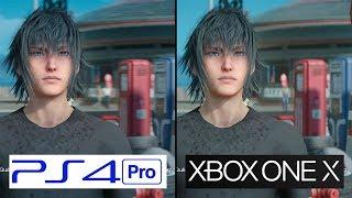Final Fantasy XV | Xbox One X vs PS4 Pro | 4K Graphics Comparison | Comparativa
