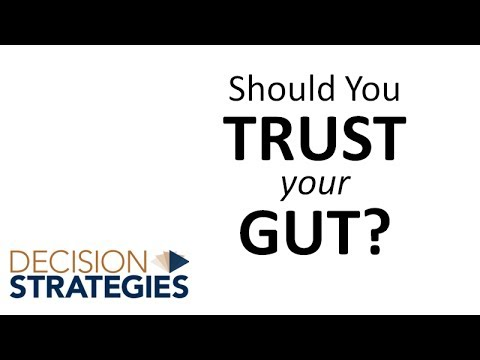 Should You Trust Your Gut? Decision Strategies Inc
