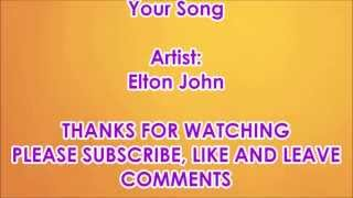 Your Song - Elton John with Lyrics