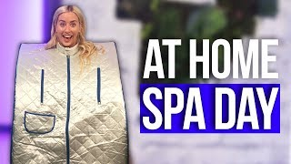 Portable SAUNA?! DIY Home Spa Day Ideas! (Beauty Break) - Stafaband