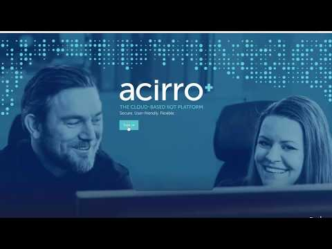 Manage devices, tags, users, etc. in acirro+