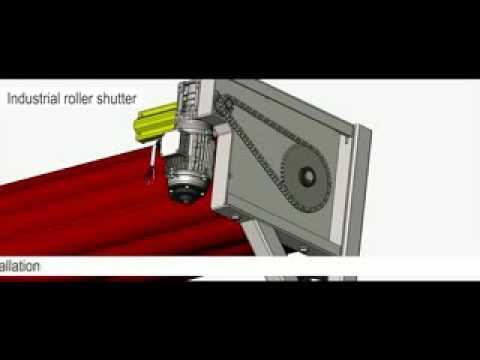 Industrial roller shutter