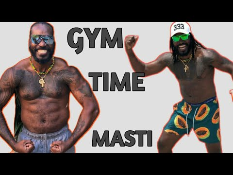 Chris Gayle In Gym Doing Workout  [Universe Boss]