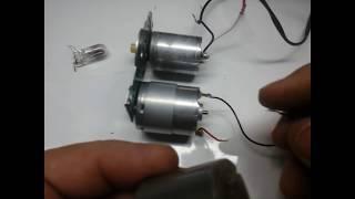 Gerador de 14 volts feito com motor de impressora
