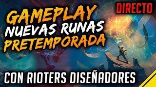 GAMEPLAY NUEVAS RUNAS PRETEMPORADA con RIOTERS en español | Noticias League Of Legends LOL