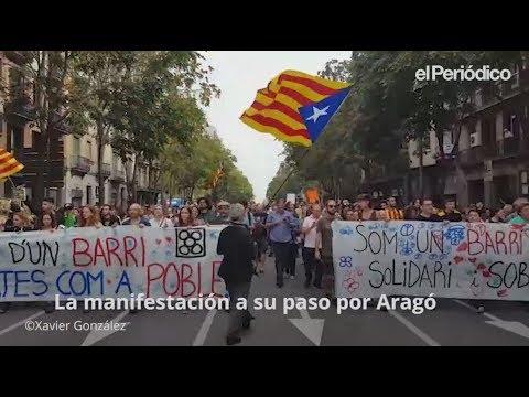 Huelga general en Catalunya 2017 - Manifestaciones en Barcelona hoy 3-O