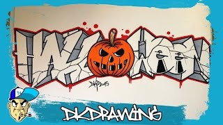 How to draw graffiti letters halloween (Halloween Special) #3(Shop: http://dkdrawing.bigcartel.com Etsy: https://www.etsy.com/de/shop/DKDrawing At this video i show you how to draw graffiti letters halloween step by step., 2015-10-31T16:52:06.000Z)