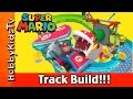 Super Mario Bros MarioKart Track Build K'Nex Piranha Plaint Nintendo Banana Mushroom by HobbyKidsTV