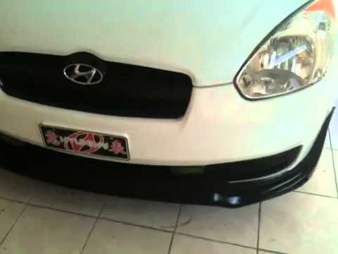 07 Hyundai Accent Front Lip Youtube