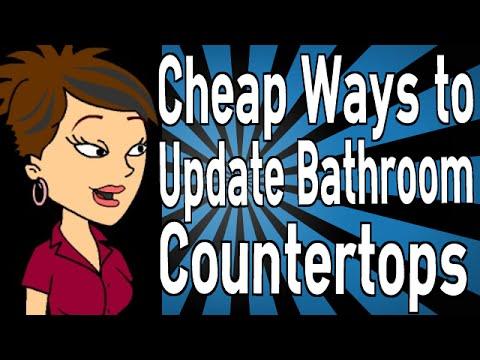 Cheap Ways To Update Bathroom Countertops YouTube - Cheap ways to update bathroom