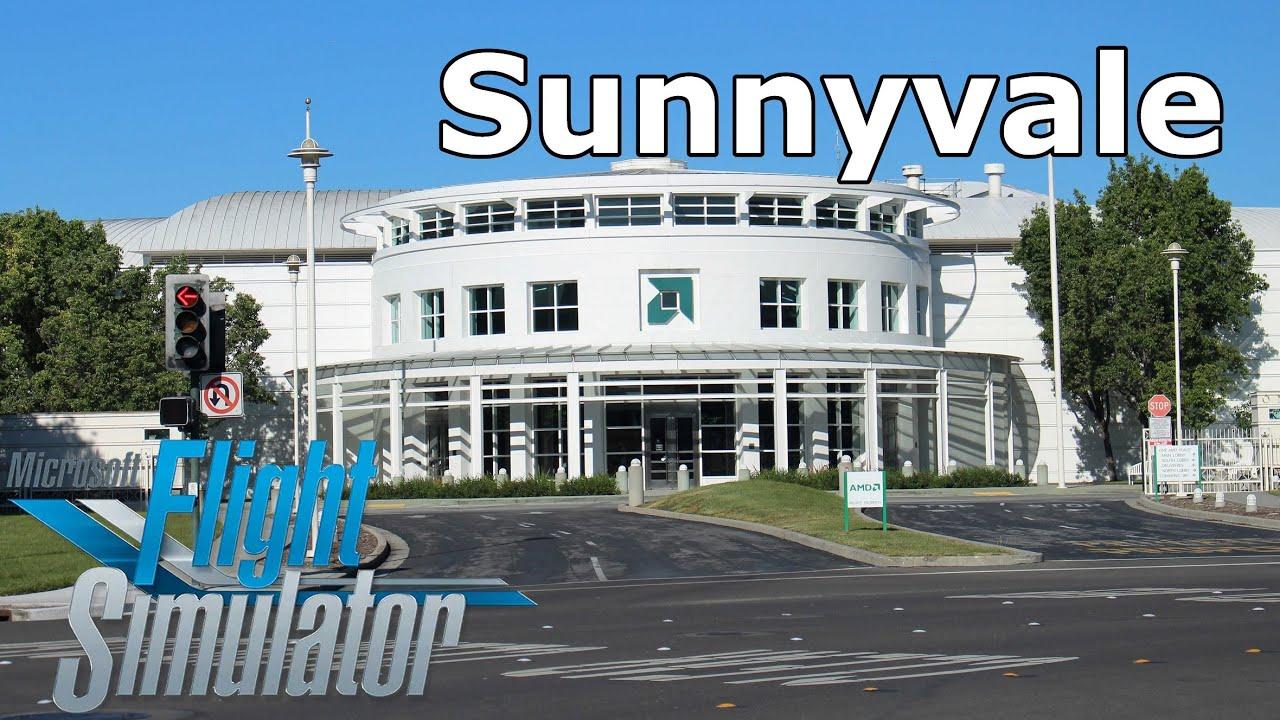 Microsoft Flight Simulator 2020 Sunnyvale Flying Over Amd Former Headquarters Youtube