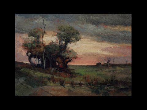 Study by M Francis McCarthy of Landscape by John Francis Murphy