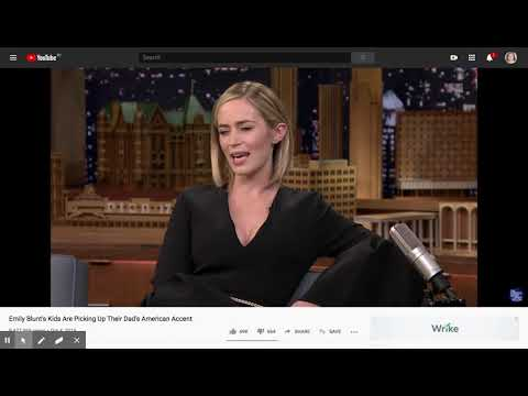 (1) Emily Blunt's Kids Are Picking Up Their Dad's American Accent