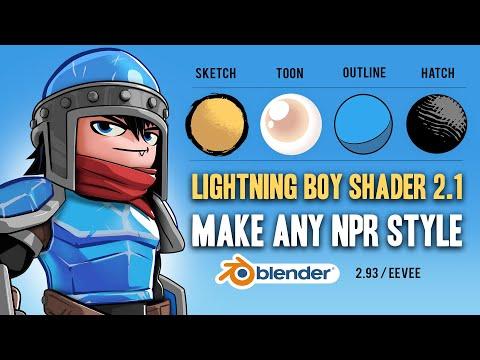 LBS 2.1 - Make Any NPR Style (Sketch, Toon, Outline, Hatch...) in Blender 2.93 / EEVEE