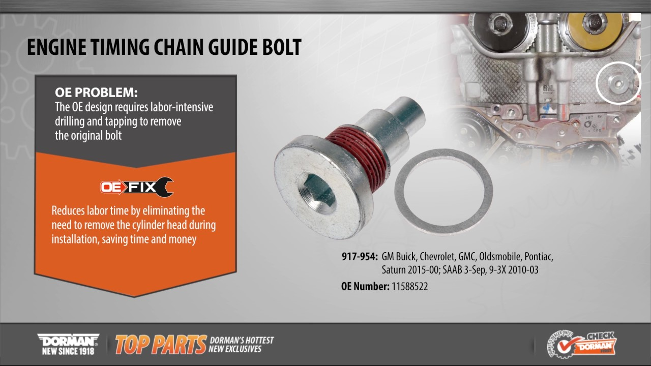 Engine Timing Chain Guide Bolt | 917-954 | Timing Chain