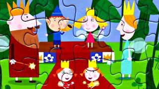 Пазл БЕН и ХОЛЛИ Семья собираем пазлы для детей Маленькое Королевство Бена и Холли | Danik and Lesha