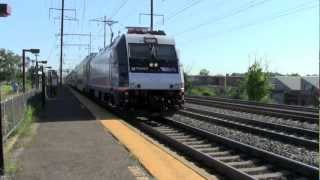 Railfanning At Jersey Avenue 8-29-12 (With Mini Hornshows And Meets)