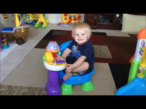 Fisher Price Song & Story Learning Chair Has Baby Michael Dancing! Playtime Review