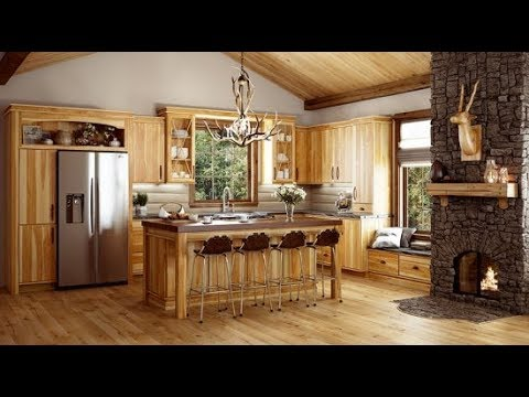 Hickory Kitchen Cabinets Pictures - YouTube