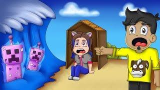 Minecraft - BASE vs TSUNAMI de CREEPERS ALIEN - RETO DE LA BASE en MINECRAFT