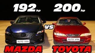 И где новые технологии?!? MAZDA 6 2.5 vs TOYOTA CARINA 2.0. ГОНКА!!!